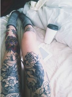 leg legs thigh gap tattooed ink tattoos tattoo ink beautiful girl socks