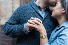 Engagement sessions are sometimes best when they are blessedly simple. Leave the props and innumerable wardrobe changes at home and focus your shoot on just the two of you. Rachel and Patrick live in Boston's Beacon Hill neighborhood and wanted to make sure to showcase the area's stunning collection of historic homes, glowing streetlamps, and cobblestone alleys. This casual engagement session is beautiful and relaxed.