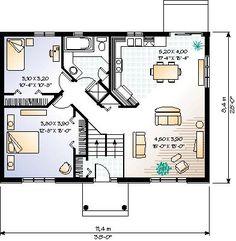 Колониальный План Дома Уровень 65349 Один