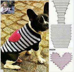 Crochet Dog Sweater, Knit Crochet, Cat Sweaters, Dog Items, Pet Fashion, Dog Dresses, Diy Stuffed Animals, Learn To Crochet, Crochet Animals