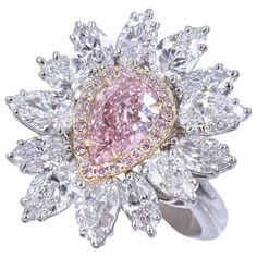 Why Rings with Pear-Cut Gems Are Unconventional Favorites | The Study Heart Shaped Diamond Ring, Pink Diamond Ring, Pear Diamond, Diamond Cuts, Diamond Jewelry, Pear Cut Engagement Rings, Engagement Ring Shapes, Love Ring, Fine Jewelry
