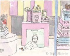 Paris Laduree Macaron Boxes with Sweet Bunny by ShellSherree