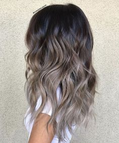 48 Balayage Ombre Hair Colors For 2019 Heavenly ashy blonde balayage Ash Brown Hair Color, Brown Ombre Hair, Hair Ideas For Brunettes, Brown And Silver Hair, Ombre Hair Color For Brunettes, Ash Ombre, Different Brown Hair Colors, Brunette Hair Colors, Cool Brown Hair