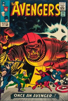 The Avengers #23, Dec. 1965. Cover by Jack Kirby and Johnny Romita.