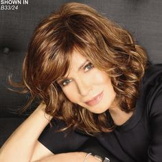 Shop our online store for premium wigs from actress Jaclyn Smith and celebrity hairstylist José Eber. These wigs for senior women are available in average and large head sizes. Find your favorite Jaclyn Smith wig style by length or color. Mexican Hairstyles, Wig Hairstyles, Straight Hairstyles, Lighter Brown Hair Color, Medium Hair Styles, Short Hair Styles, Light Purple Hair, Blonde Pixie Cuts, Long Layered Hair