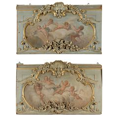 Pair of French panels | From a unique collection of antique and modern architectural elements at http://www.1stdibs.com/furniture/building-garden/architectural-elements/