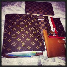 Louis Vuitton agendas via Instagram