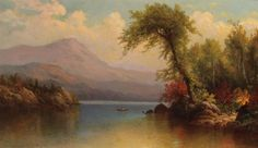 """View on Lake George,"" George W. Waters, 1881, oil on canvas,  12 x 20"", private collection."
