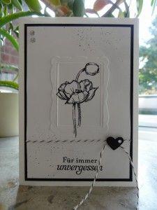 Trauerkarten, geprägter Bilderrahmen                                                                                                                                                      Mehr