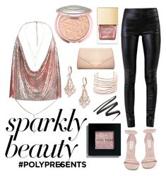 """""""#PolyPresents: Sparkly Beauty"""" by kori-burkhard ❤ liked on Polyvore featuring beauty, Steve Madden, Bobbi Brown Cosmetics, Helmut Lang, Kate Spade, Alexis Bittar, Messika, Dorothy Perkins, contestentry and polyPresents"""