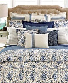 love this duvet  Lauren Ralph Lauren Home Bluff Point Bedding Collection - Duvet Covers - Bed & Bath - Macy's