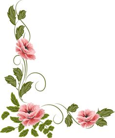 Borders For Paper, Borders And Frames, Art Floral, Boarder Designs, Flower Nail Art, Floral Border, Fabric Painting, Painting Flowers, Watercolor Wedding