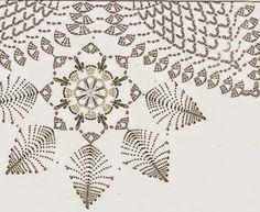 centerpiece of Crochet flowers