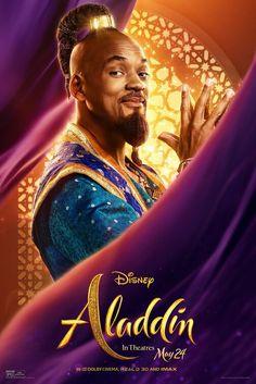 Aladdin - Poster Will Smith ist der Dschinni! Aladdin - ab in den Kinos<br> Aladdin Film, Aladdin Poster, Watch Aladdin, Genie Aladdin, Disney Cinema, Film Disney, The Smiths, Disney Live, Will Smith Films