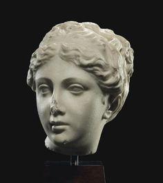 A ROMAN MARBLE HEAD OF VENUS - CIRCA 1ST-2ND CENTURY A.D. | Christie's