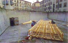 La costruzione della Nuova Arca all'interno del cortile di San Vittore Ladder, Diary Book, Stairway, Ladders