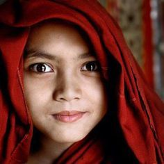 The Monks of Burma - David Lazar Becoming A Buddhist, 3 Face, Hilario, Portraits, The Monks, Great Photographers, People Of The World, Beautiful Children, Girl Photos