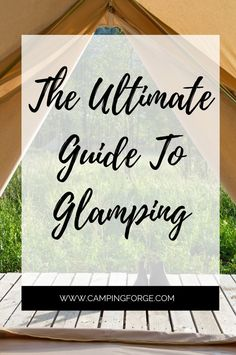 Camping Tips From Camping Forge If you want to visit nature but are not ready for traditional tent camping then check out glamping. Bell Tent Camping, Camping Gear, Camping Hacks, Campsite, Diy Camping, What Is Glamping, Go Glamping, Camping Checklist, Camping Essentials