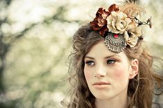 Autumn headpiece - headdress headpiece by Moth and BayLeaf #wedding #autumn