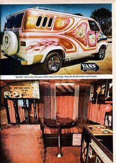 Custom vans with cool insides Dodge Van, Chevy Van, Customised Vans, Custom Vans, Station Wagon, Rat Rods, Classic Trucks, Classic Cars, Caravan