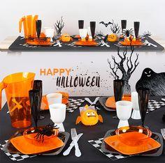 Décoration de table halloween 2016 pour petits et grands. Achetez toute la vaisselle pour composer ce thème sur le site DINOVIA