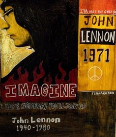 John Lennon painting by Ray Stephenson.  This painting and prints are for sale!  E-Mail RayboMusic@bellsouth.net or visit www.raystephenson.com for more information.   ○○○ #JohnLennon #songwriter #Imagine #TheBeatles #TheBeetles #RayStephenson #ArtForSale #artwork #RockAndRoll #England #British #artwork #Beetles #Beatles #singer #musician #artist #Yesterday #song #RockArt #PopArt #ImaginePeace