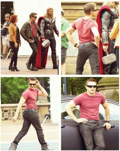 Hawkeye. I know I have probably already pinned most of these pictures, but they just make me laugh.