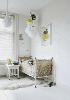 A white and yellow childrens bedroom - my scandinavian home