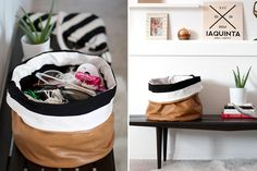 Spring Cleaning Just Got Cute With DIY Slouchy Storage Bins via Brit + Co.