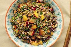 Lentil & Stone Fruit Salad recipe on Food52