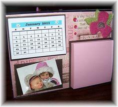 Calendar/Post it holder