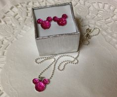 MOUSE EARS Necklace and Earrings Set for Themed by HairSwirls1