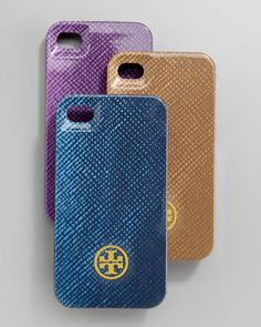 Saffiano-Print Hard iPhone 4 Case by Tory Burch at Neiman Marcus.