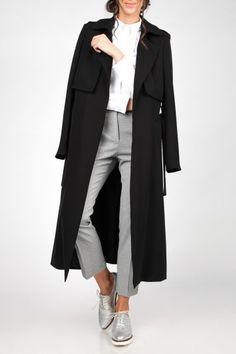 SPRING DOUBLE BREASTED MIDI COAT