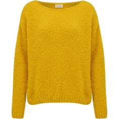 American Vintage Wimostate Jumper - Lemon ($155) ❤ liked on Polyvore featuring tops, sweaters, lemon, knit top, loose knit sweater, yellow knit sweater, yellow jumper and boat neck tops