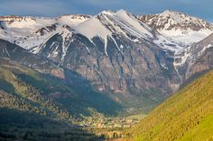 Pure bliss. Telluride is nestled at the end of a box canyon surrounded by stunning mountains.  #Telluride #summer