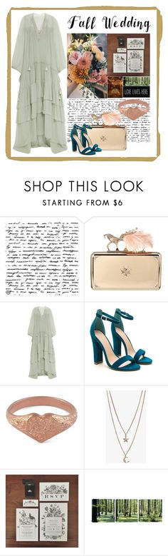 """""""🌲"""" by faye-valentine ❤ liked on Polyvore featuring Alexander McQueen, Chloé, Alex Monroe, Boohoo and fallwedding"""