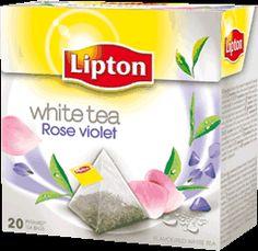 Lipton - Thé blanc rose violette