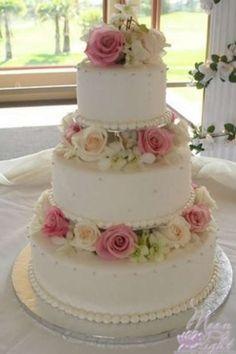 Свадебные трехъярусные торты