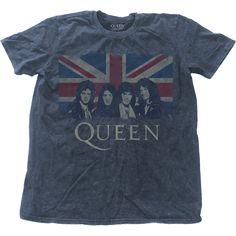 Queen Men's Fashion Tee: Vintage Union Jack Wholesale Ref:QUSWASH01MD