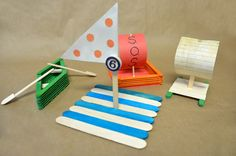 Day 3 - PreT & Teen  Popsicle Stick Boat Craft Ideas for Kids