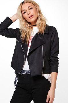 Clothing, Shoes & Accessories Boohoo Biker Coat Uk 8 Lustrous Women's Clothing