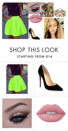 """""""Adrian Random"""" by twentyonewwesuperstars ❤ liked on Polyvore featuring Christian Louboutin, Lime Crime and Allurez"""