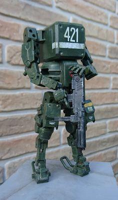 Arte Robot, Robot Art, Battle Robots, Robots Characters, Gundam Custom Build, Sci Fi Models, Robot Concept Art, Super Robot, Cyberpunk