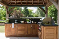 Outdoor Kitchen Project, Orchard House - Contemporary - Patio - Essex - by Humphrey Munson Build Outdoor Kitchen, Backyard Kitchen, Outdoor Kitchen Design, Outdoor Kitchens, Kitchen Decor, Outdoor Spaces, Outdoor Living, Outdoor Decor, Rustic Outdoor