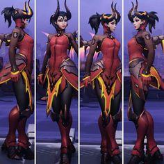 mercy devil skin - Google Search