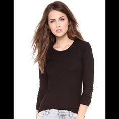 James Perse long sleeve tee made in  Fabulously soft  long sleeve tee. Standard James Perse.  Size 1 crew neck. 100% cotton and made in the USA ‼️ James Perse Tops Tees - Long Sleeve