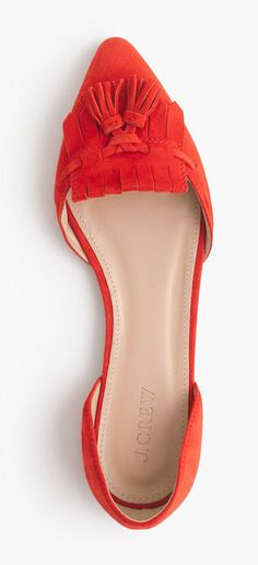 Coral tassel flats | Suede D'Orsay Loafer Flats - GIVE IT TO MEEEEE... NOW