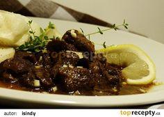 Kančí na černém rybízu a brusinkách recept - TopRecepty.cz Meat, Food, Essen, Yemek, Meals