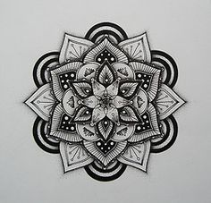 drawing stippling blackwork Hand drawn mandala pen and ink Dotwork pointilism